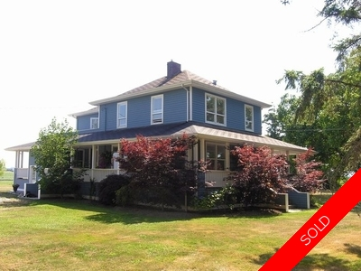 Ladner House & Acreage for sale:  3 bedroom  Hardwood Floors 3,194 sq.ft. (Listed 2013-02-12)