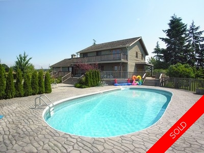 Ladner House & Acreage for sale:  5 bedroom 3,146 sq.ft. (Listed 2011-04-13)